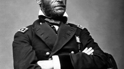 General William Tecumseh Sherman in May 1865. Portrait by Mathew Brady.