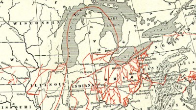 Map of the underground railroad, 1898 (Public Domain)