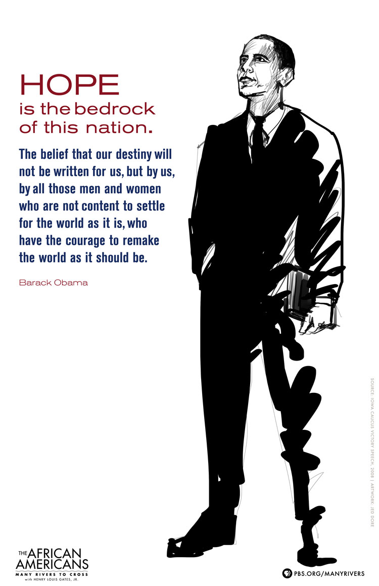 Barack Obama Poster, The African Americans: Many Rivers to Cross - PBS