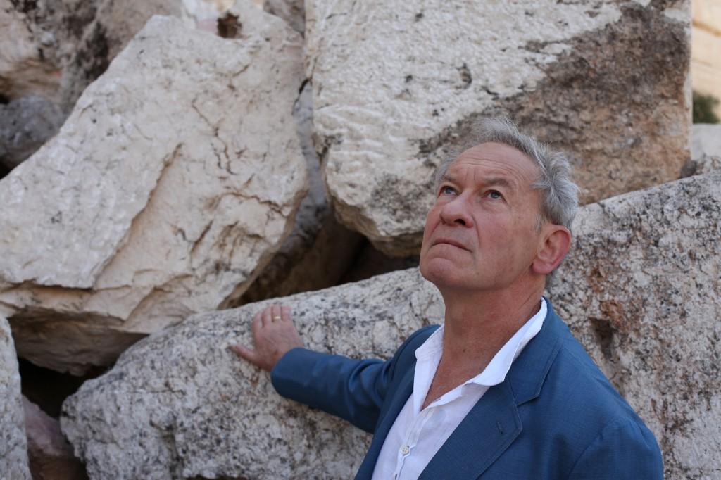 Simon Schama at Temple Mount, Jerusalem