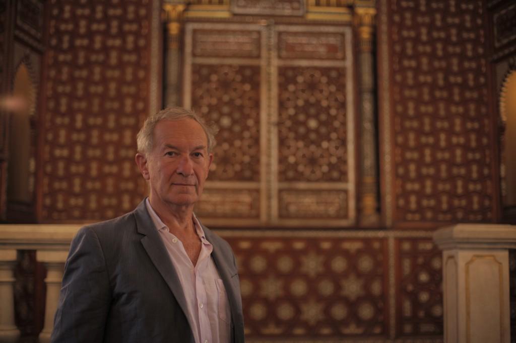 Simon Schama at Ben Ezra Synagogue, Cairo, Egypt