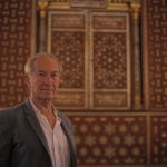 Simon Schama at Ben Ezra Synagogue, Cairo, Egypt