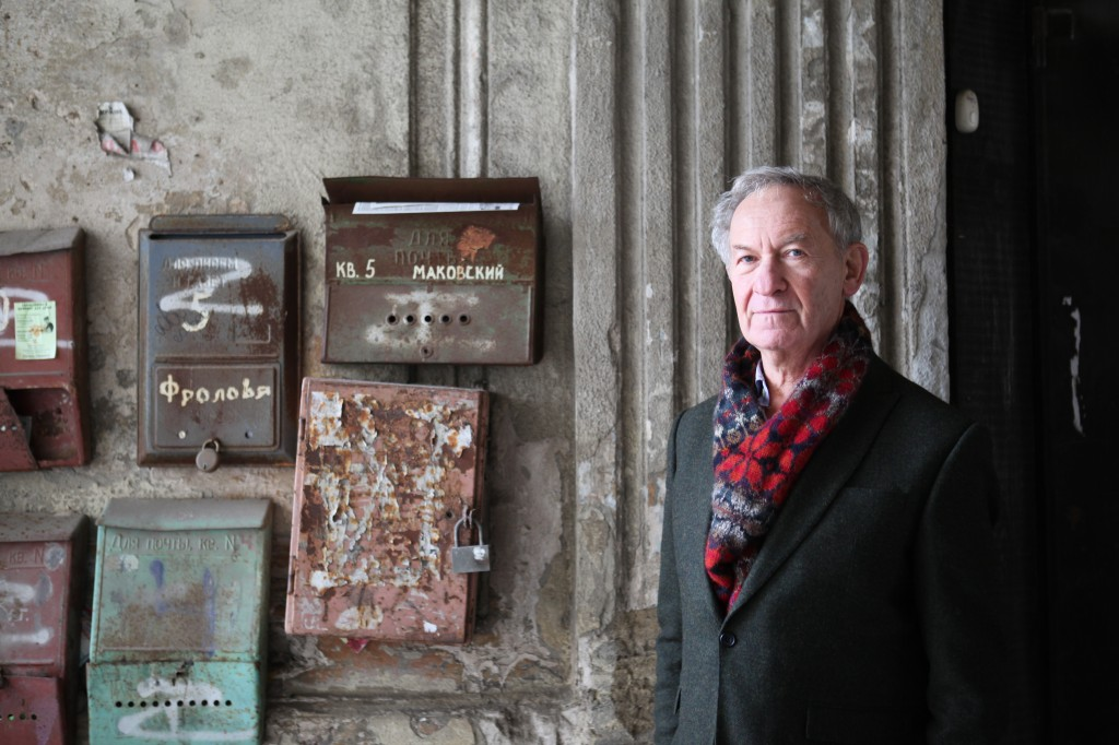 Simon Schama with letter boxes - Eastern Europe