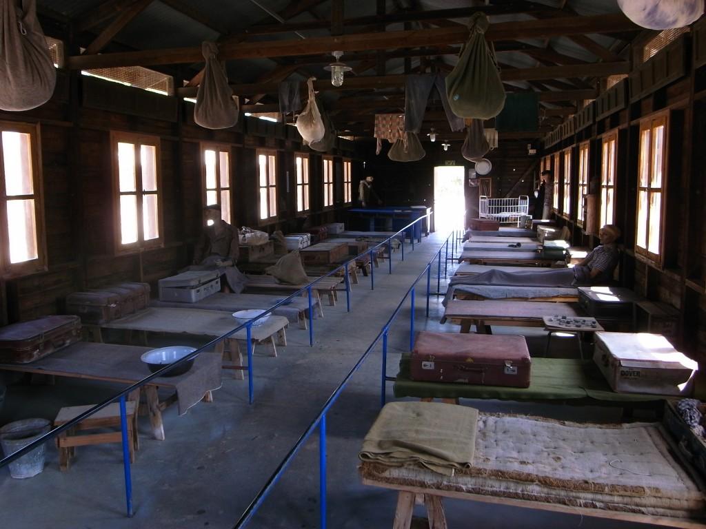 Barracks at Atlit detention camp, Israel