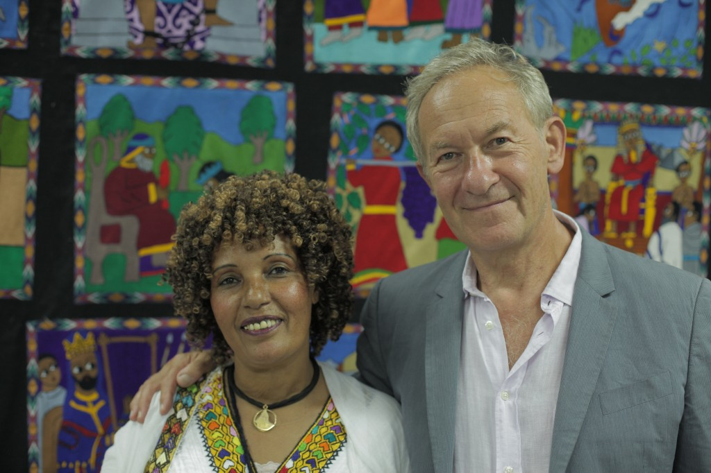 Simon Schama with Aviva, a Beta Israel interviewee from Ethiopia